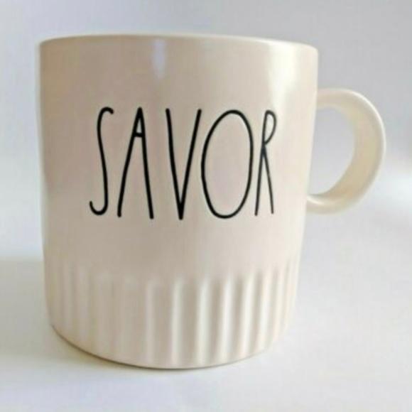 """Rae Dunn Other - 🎈🎈~Rae Dunn~""""SAVOR""""~Coffee/Tea/Coco Mug~NEW~ ❤️"""